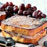 Sweet & Savory Monte Cristo Blueberry French Toast - www.kudoskitchenbyrenee.com