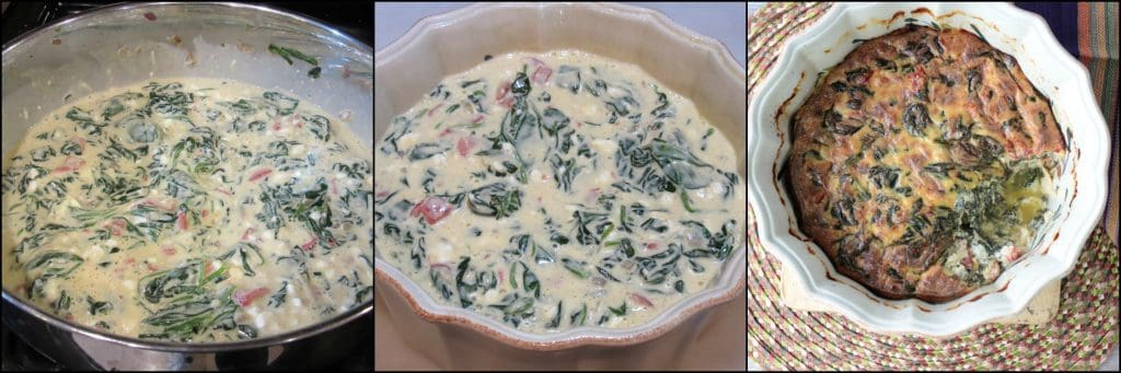 How to make keto creamed spinach casserole photo tutorials. - www.kudoskitchenbyrenee.com