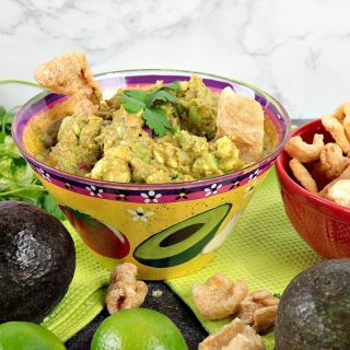 Guacamole with Zero Carb Pork Rind Dippers