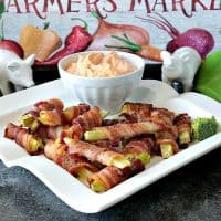 Bacon Wrapped Broccoli Stalk Appetizers - Waste Not, Want Not
