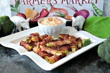 Bacon-Wrapped Broccoli Stems