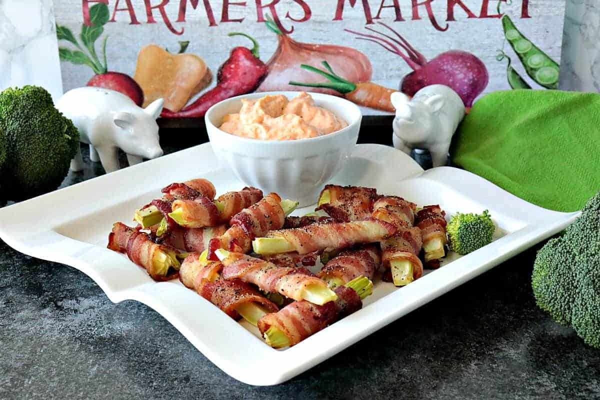 The idea for these Bacon Wrapped Broccoli Stalk Appetizers came to me one night as I was preparing broccoli for dinner. I'm not normally a broccoli stalk eater, but disposing of them is awfully wasteful. That's when my lightbulb moment hit, and the results are utterly delicious! - kudoskitchenbyrenee.com