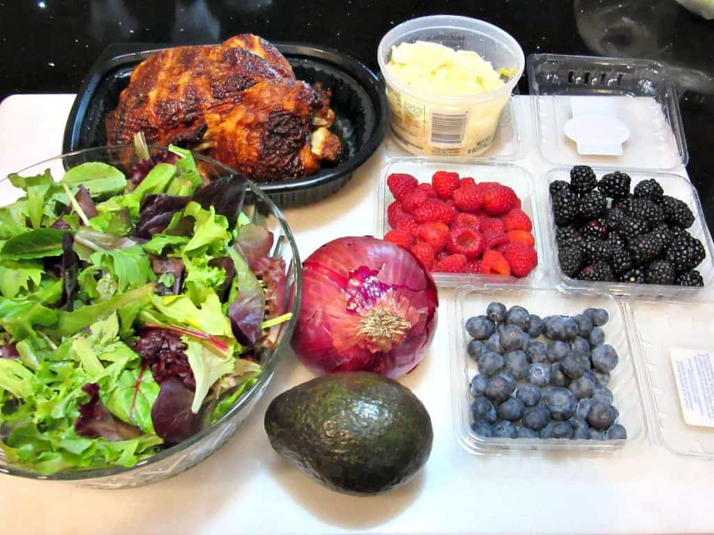 Berry Delicious Chicken Avocado Salad with Strawberry Balsamic Vinaigrette. - kudoskitchenbyrenee.com