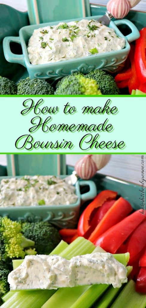 Love Boursin cheese? With only a few simple ingredients, you can quickly make this Garlic Herb Homemade Boursin Cheese in under 10 minutes. - kudoskitchenbyrenee.com