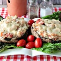 Speedy Keto Chicken Parmesan Stuffed Portobello Mushrooms