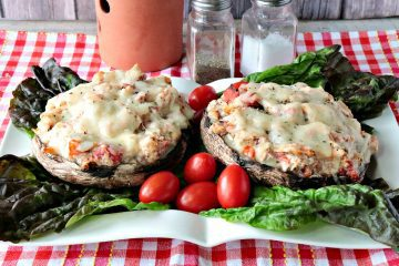 Speedy Chicken Parmesan Portobello Stuffed Mushroom