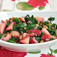 Healthy Sautéed Creamed Spinach & Strawberry Side Dish with Pistachios