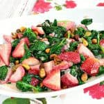 Once you taste this Sautéed Spinach & Strawberry Side Dish, you'll be smitten with the delicious flavor of a dish that's typically served raw. - kudoskitchenbyrenee.com