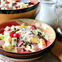 Best Ever Chef's Salad with Homemade Blue Cheese Dressing