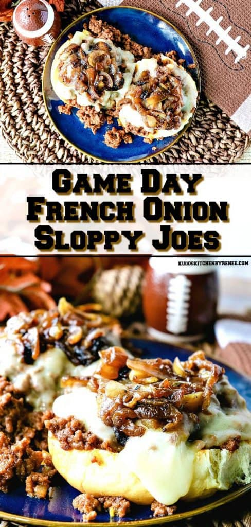 When you want to frugally feed a crowd for game day, or a hungry family at dinner, it doesn't get much tastier than French Onion Sloppy Joes! - kudoskitchenbyrenee.com
