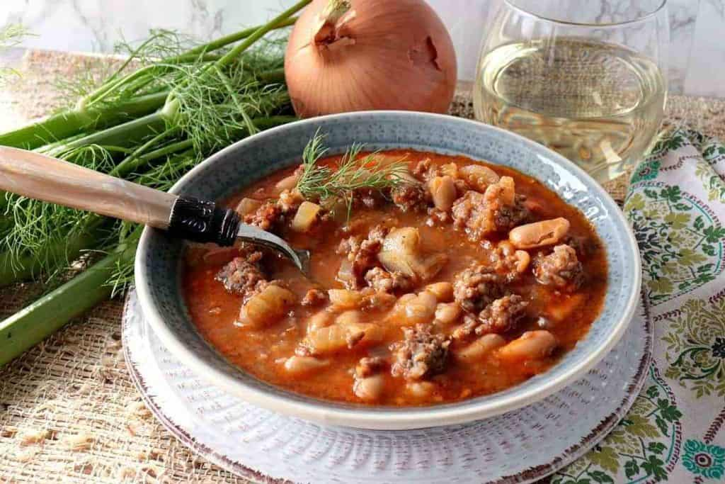 White Bean, Fennel & Italian Sausage Soup - kudoskitchenbyrenee.com