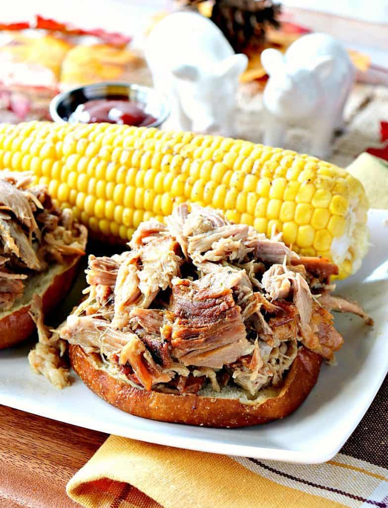 When you want to feed a crowd, but you don't want to fuss, reach for this Family Reunion Slow Cooker Pulled Pork Sandwiches recipe and everyone will be happy, and well fed!! - kudoskitchenbyrenee.com