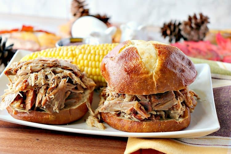 Family Reunion Slow Cooker Pulled Pork Sandwiches - kudoskitchenbyrenee.com