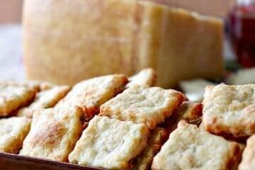 Crispy Golden Parmigiano-Reggiano Parmesan Fennel Crackers