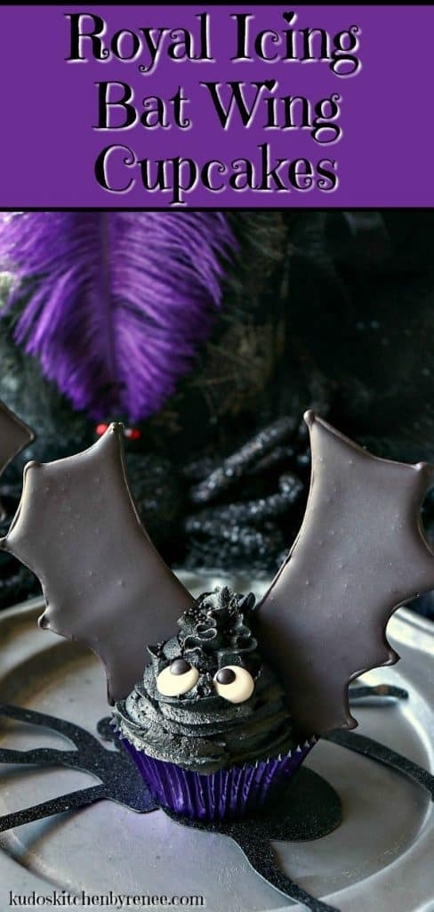 Take a bite out of these Royal Icing Bat Wing Cupcakes, before they take a bite out of you! You'll be glad you did because they're BATtastically delicious, and not at all threatening to make. Let me show you how. - kudoskitchenbyrenee.com