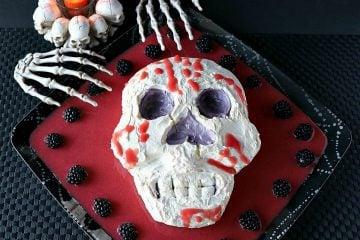 Spooky Swiss Meringue Skull