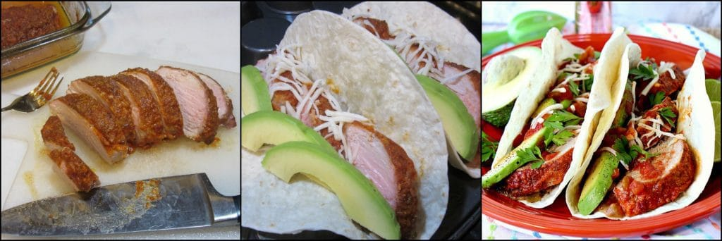 Lime Marinated Mexican Pork Tenderloin Tacos - kudoskitchenbyrenee.com