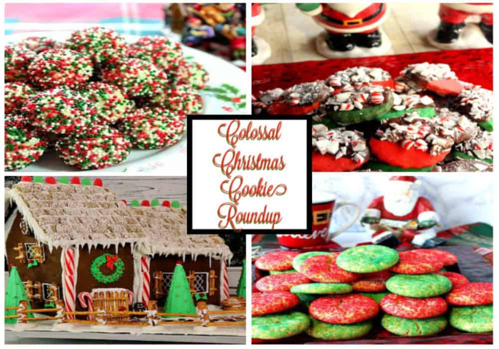 Featured collage image of colossal Christmas cookies recipe roundup