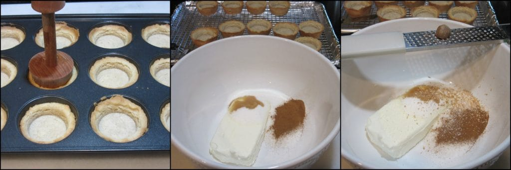 How to make Pumpkin Cheesecake Tartlets with Cookie Crust - kudoskitchenbyrenee.com