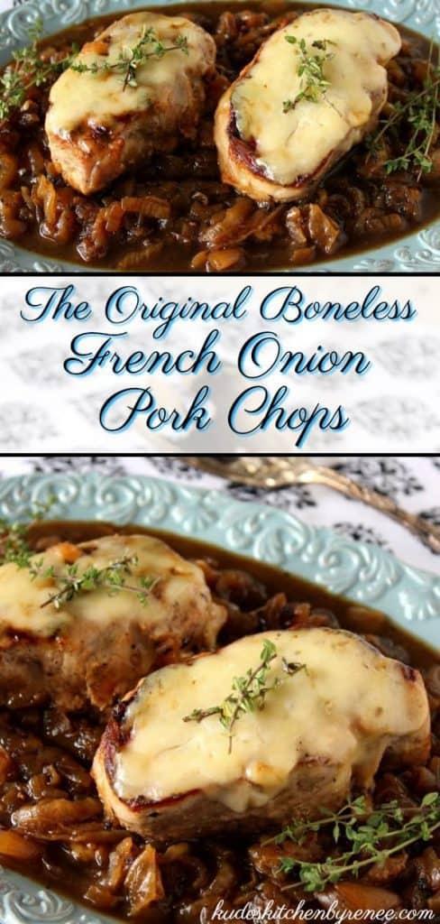 French Onion Pork Chops - kudoskitchenbyrenee.com