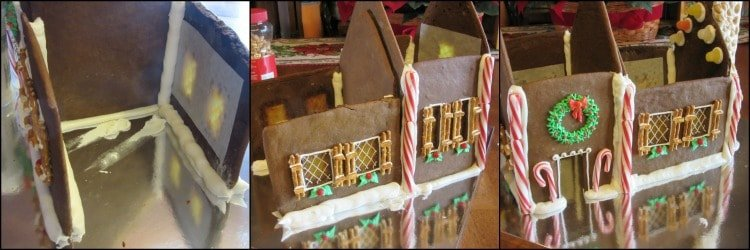 How to assemble a gingerbread house photo tutorial. - kudoskitchenbyrenee.com