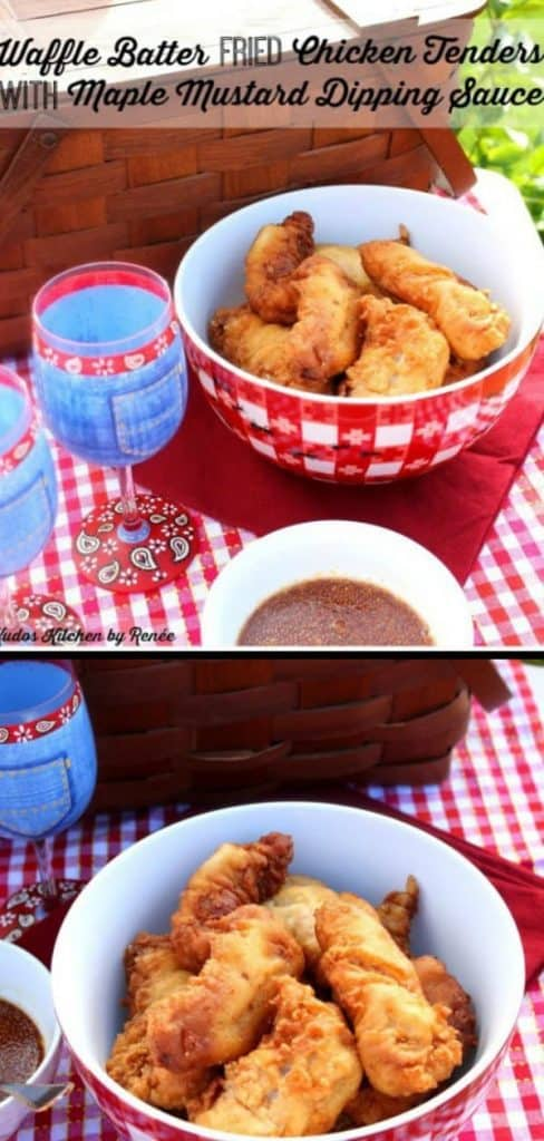 Waffle Batter Fried Chicken Tenders - kudoskitchenbyrenee.com