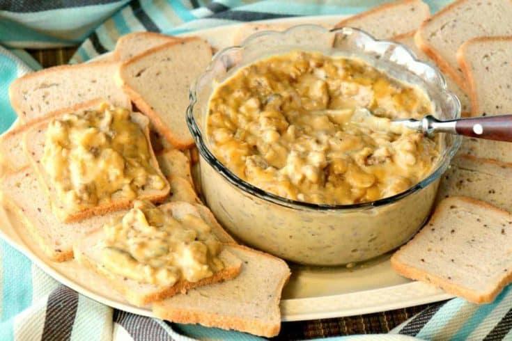 Patty Melt Dip with cocktail bread - kudoskitchenbyrenee.com
