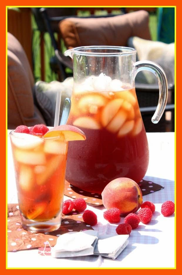 Peach and Raspberry Sun Tea