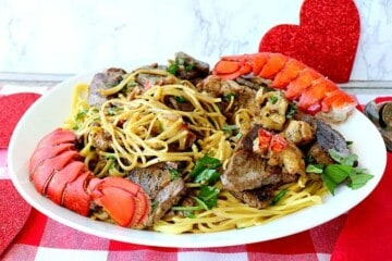 Steak and Lobster Linguine