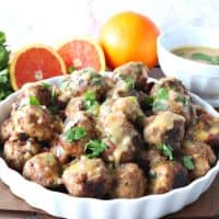 Turkey Meatballs with Orange and Cashews