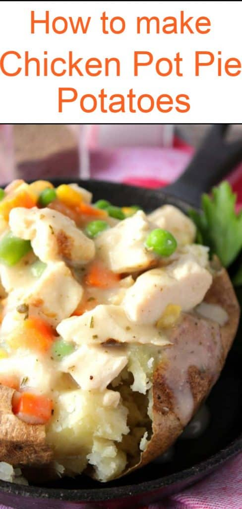 How to make chicken pot pie potatoes title text image