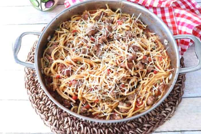 One-Pot Linguine with Italian Sausage