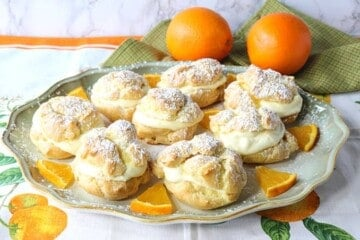 Perfect Profiteroles with Orange Curd Whipped Cream Filling