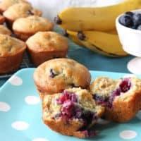 Homemade Blueberry Banana Muffins