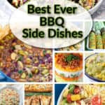 BBQ side dish roundup photo collage with title text overlay