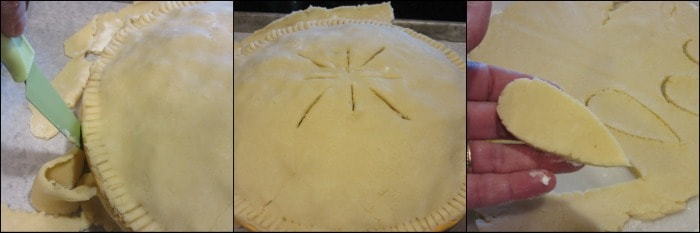 How to make chicken and rice pot pie photo tutorial.