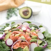 Salmon Salad with Avocado and Spinach