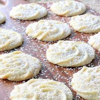 Tray of Viennese Whirls Butter Cookies