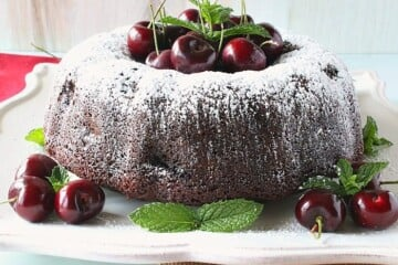 Double Chocolate Cherry Bundt Cake