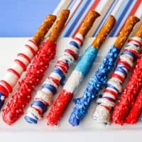 Red, White, and Blue Patriotic Pretzel Rods