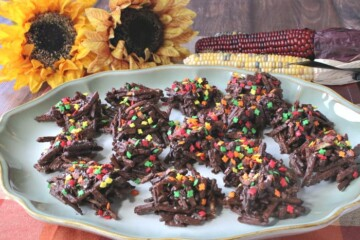 Chocolate-Covered Shoestring Haystacks