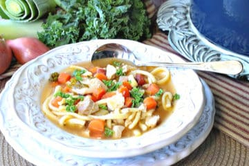 Chicken and Leek Soup with Kale
