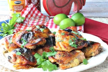 Honey Lime Sriracha Chicken Thighs