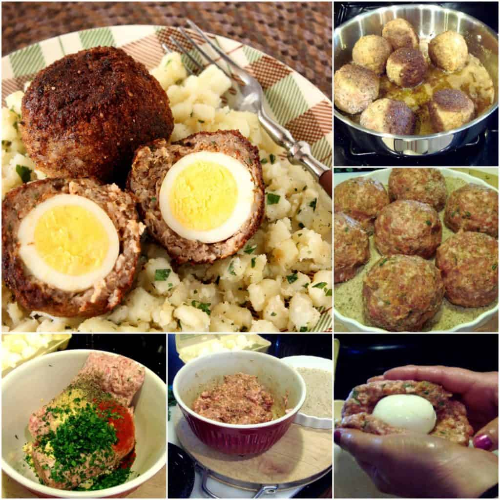 How to make Scotch eggs photo collage.