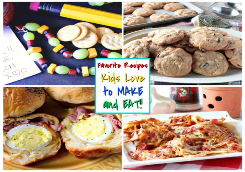 A title text collage image of kid recipes