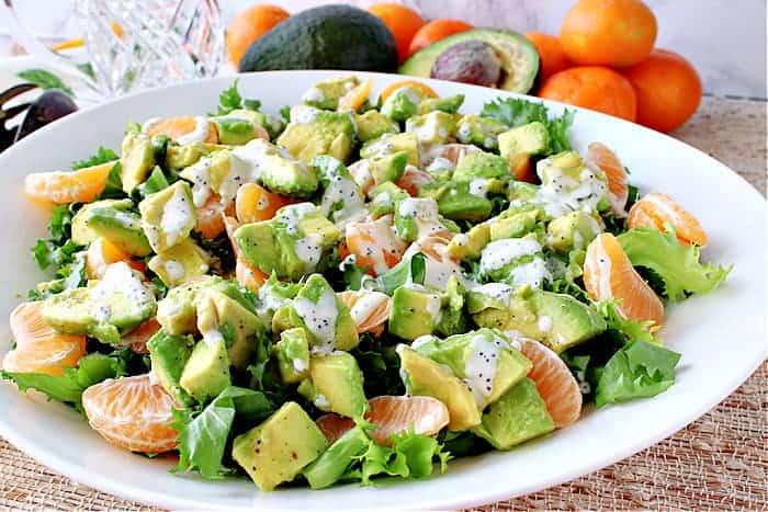 Avocado Orange Salad with Orange Poppy Seed Dressing